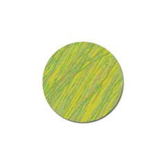 Green And Yellow Van Gogh Pattern Golf Ball Marker (4 Pack) by Valentinaart