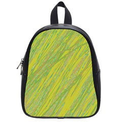 Green And Yellow Van Gogh Pattern School Bags (small)  by Valentinaart