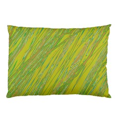 Green And Yellow Van Gogh Pattern Pillow Case (two Sides) by Valentinaart