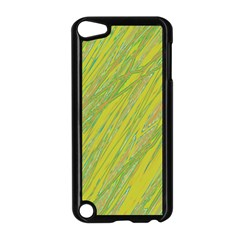 Green And Yellow Van Gogh Pattern Apple Ipod Touch 5 Case (black) by Valentinaart