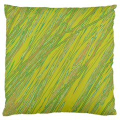 Green And Yellow Van Gogh Pattern Large Flano Cushion Case (one Side) by Valentinaart