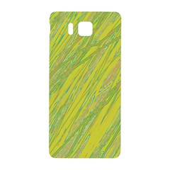 Green And Yellow Van Gogh Pattern Samsung Galaxy Alpha Hardshell Back Case by Valentinaart