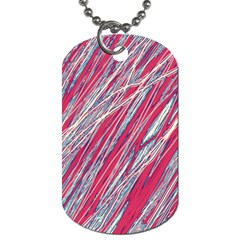 Purple Decorative Pattern Dog Tag (two Sides) by Valentinaart