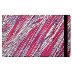 Purple Decorative Pattern Apple Ipad 2 Flip Case by Valentinaart