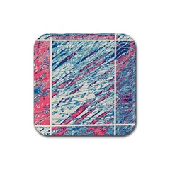 Colorful Pattern Rubber Square Coaster (4 Pack)  by Valentinaart