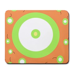 Green And Orange Design Large Mousepads by Valentinaart