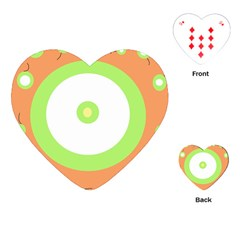 Green And Orange Design Playing Cards (heart)  by Valentinaart
