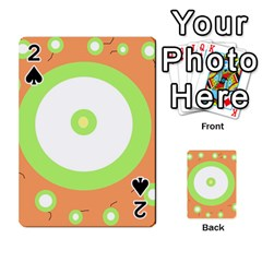 Green And Orange Design Playing Cards 54 Designs
