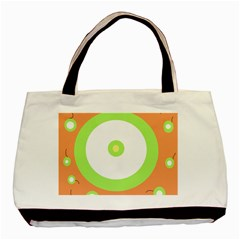 Green And Orange Design Basic Tote Bag (two Sides) by Valentinaart
