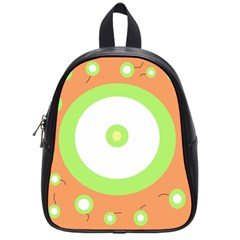 Green And Orange Design School Bags (small)  by Valentinaart