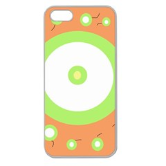 Green And Orange Design Apple Seamless Iphone 5 Case (clear) by Valentinaart