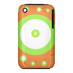 Green and orange design Apple iPhone 3G/3GS Hardshell Case (PC+Silicone) by Valentinaart