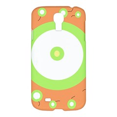 Green And Orange Design Samsung Galaxy S4 I9500/i9505 Hardshell Case by Valentinaart