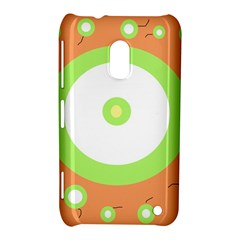 Green and orange design Nokia Lumia 620 by Valentinaart
