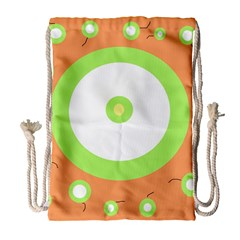 Green And Orange Design Drawstring Bag (large) by Valentinaart