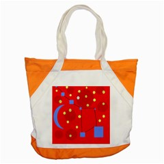 Red Sky Accent Tote Bag by Valentinaart