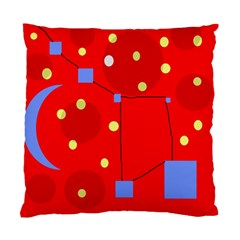 Red Sky Standard Cushion Case (one Side) by Valentinaart