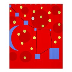 Red Sky Shower Curtain 60  X 72  (medium)  by Valentinaart