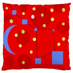 Red Sky Standard Flano Cushion Case (one Side) by Valentinaart