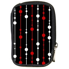 Red Black And White Pattern Compact Camera Cases by Valentinaart