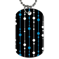 Blue, white and black pattern Dog Tag (One Side)