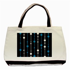 Blue, White And Black Pattern Basic Tote Bag (two Sides) by Valentinaart