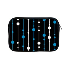 Blue, White And Black Pattern Apple Ipad Mini Zipper Cases by Valentinaart