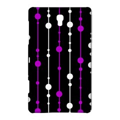 Purple, Black And White Pattern Samsung Galaxy Tab S (8 4 ) Hardshell Case  by Valentinaart