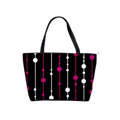 Magenta White And Black Pattern Shoulder Handbags by Valentinaart