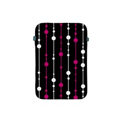 Magenta White And Black Pattern Apple Ipad Mini Protective Soft Cases by Valentinaart
