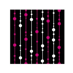 Magenta White And Black Pattern Small Satin Scarf (square) by Valentinaart