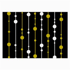 Yellow, Black And White Pattern Large Glasses Cloth