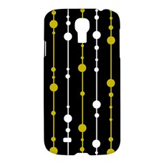 Yellow, Black And White Pattern Samsung Galaxy S4 I9500/i9505 Hardshell Case by Valentinaart