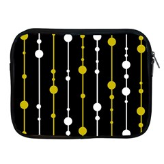 Yellow, Black And White Pattern Apple Ipad 2/3/4 Zipper Cases by Valentinaart