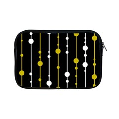 Yellow, Black And White Pattern Apple Ipad Mini Zipper Cases by Valentinaart
