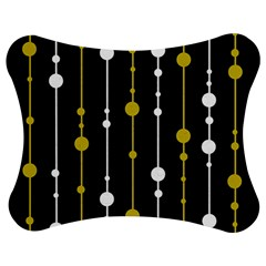 Yellow, Black And White Pattern Jigsaw Puzzle Photo Stand (bow) by Valentinaart