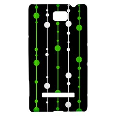 Green, white and black pattern HTC 8S Hardshell Case