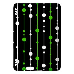 Green, white and black pattern Kindle Fire HDX Hardshell Case by Valentinaart