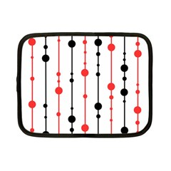 Red, Black And White Pattern Netbook Case (small)  by Valentinaart