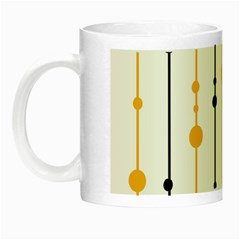 Yellow, Black And White Pattern Night Luminous Mugs by Valentinaart