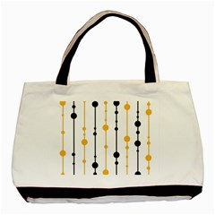 Yellow, Black And White Pattern Basic Tote Bag (two Sides) by Valentinaart