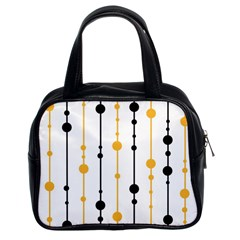 Yellow, Black And White Pattern Classic Handbags (2 Sides) by Valentinaart