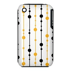 Yellow, black and white pattern Apple iPhone 3G/3GS Hardshell Case (PC+Silicone) by Valentinaart