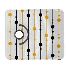 Yellow, Black And White Pattern Samsung Galaxy S  Iii Flip 360 Case by Valentinaart