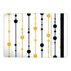 Yellow, Black And White Pattern Samsung Galaxy Tab Pro 10 1  Flip Case by Valentinaart