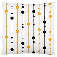 Yellow, black and white pattern Standard Flano Cushion Case (One Side) by Valentinaart