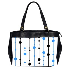 Blue, White And Black Pattern Office Handbags (2 Sides)