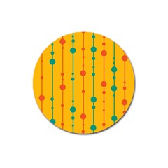 Yellow, Green And Red Pattern Magnet 3  (round) by Valentinaart