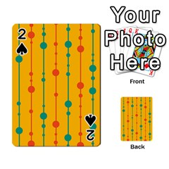 Yellow, Green And Red Pattern Playing Cards 54 Designs  by Valentinaart