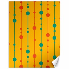 Yellow, Green And Red Pattern Canvas 18  X 24   by Valentinaart